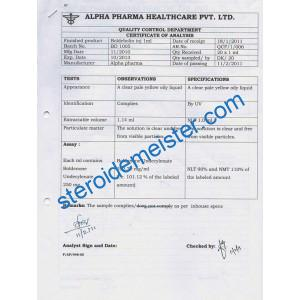 BOLDEBOLIN 250MG ALPHA PHARMA BOLDENONE UNDECYLENATE