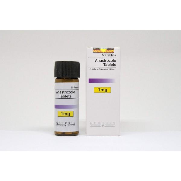 anastrozole tablets genesis 50 tabs 1mg tab