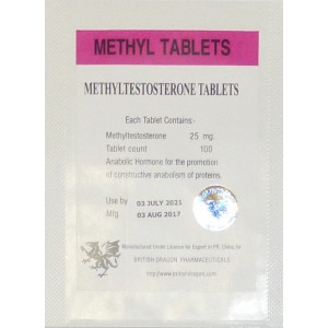 methyl tablets british dragon 100 tabs 25mg tab