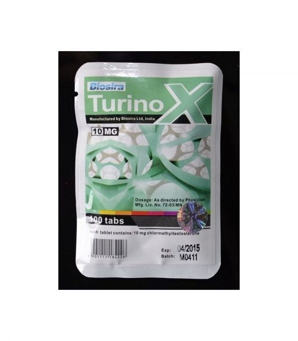 turinox biosire turanabol chlormethyltestosterone 100tabs 10mg tab