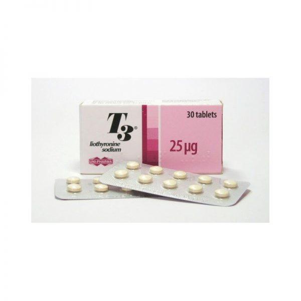 uni pharma t3 25mcgtab 30 tabs